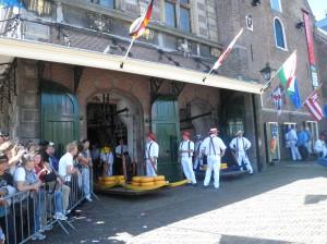 Schauspiel auf dem Käsemarkt in Alkmaar
